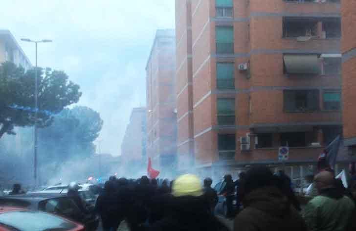 Scontri alla Magliana: 9 arrestati, 40 denunciati, Macchia Rossa sequestrato