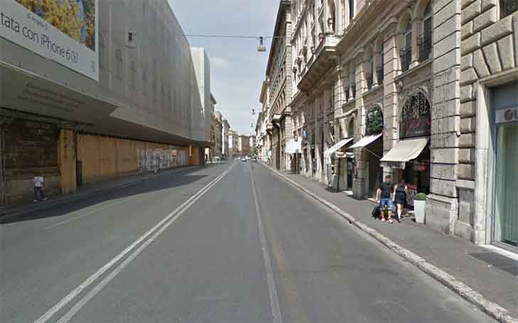 Corso Vittorio Emanuele a Roma. In questa strada è avvenuto l'incidente in moto
